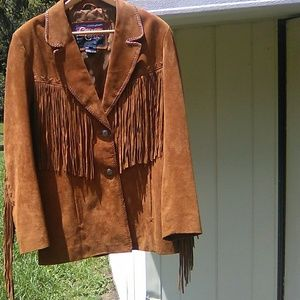 Cripple Creek Rust 1970ish Leather fringe jacket